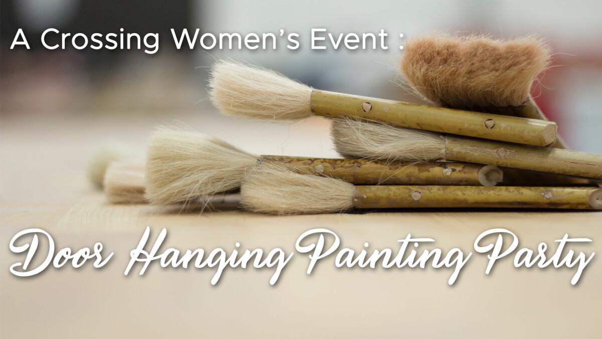 Door Hanging Painting Party